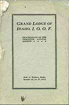 Thumbnail image of Grand Lodge of Idaho, I.O.O.F. 1912 Proceedings cover