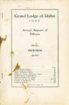 Thumbnail image of Grand Lodge of Idaho, I.O.O.F. 1913-1914 Annual Reports cover