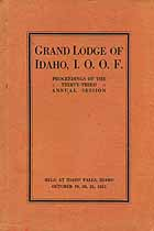 Thumbnail image of Grand Lodge of Idaho, I.O.O.F. 1915 Proceedings cover