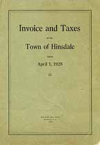 Thumbnail image of Hinsdale 1928 Tax List cover