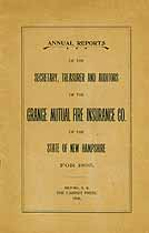 Thumbnail image of N. H. Grange Mutual Fire Insurance Co. 1895 Reports cover