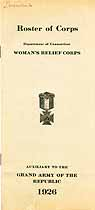 Thumbnail image of Woman's Relief Corps 1926 Conn. Dept. Roster cover