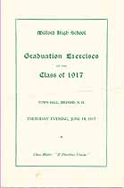 Thumbnail image of Milford High School 1917 Graduation Exercises cover