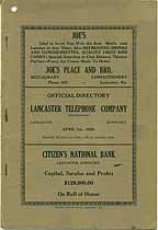 Thumbnail image of Lancaster 1928 Telephone Directory cover