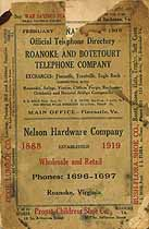Thumbnail image of Roanoke and Botetourt 1919 Telephone Directory cover