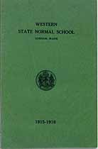 Thumbnail image of Western State Normal School 1915-1916 Catalog cover