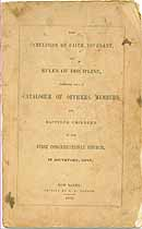 Thumbnail image of Southport First Congregational Church 1852 Catalogue cover