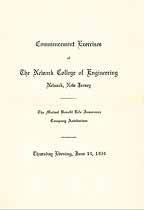 Thumbnail image of Newark College of Eng. 1934 Commencement cover