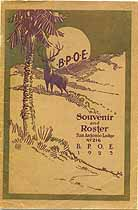 Thumbnail image of San Antonio Lodge No. 216, B. P. O. E. 1923 Roster cover