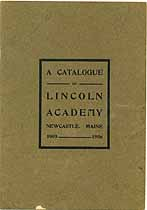 Thumbnail image of Lincoln Academy 1905-1906 Catalogue cover