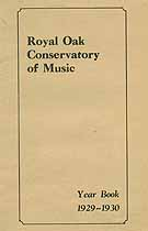 Thumbnail image of Royal Oak Conservatory 1929-1930 Year Book cover