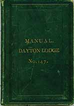 Thumbnail image of Manual. Dayton Lodge No. 147. cover