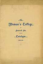 Thumbnail image of Frederick Woman's College 1895-96 Catalogue cover
