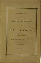 Thumbnail image of Erie Academy 1870-71 Catalogue cover