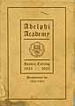 Thumbnail image of Adelphi Academy of Brooklyn 1924-1925 Catalog cover