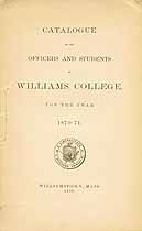 Thumbnail image of Williams College 1870-71 Catalogue cover