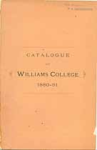 Thumbnail image of Williams College 1880-81 Catalogue cover