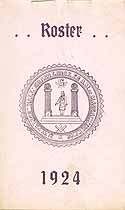 Thumbnail image of M. W. Prince Hall Grand Lodge 1924 Roster cover