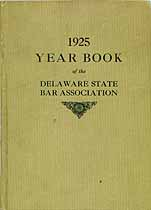 Thumbnail image of Delaware Bar Association 1925 Year Book cover