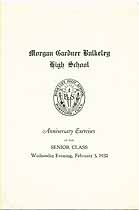 Thumbnail image of Morgan Gardner Bulkeley High School 1932 Exercises cover