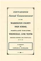 Thumbnail image of Washington County High School 1925 Commencement cover