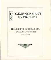 Thumbnail image of Haverling High School 1925 Commencement cover