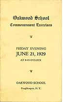 Thumbnail image of Oakwood School 1929 Commencement cover