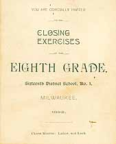 Thumbnail image of Milwaukee Sixteenth District School 1892 Closing Exercises cover