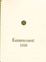 Thumbnail image of Bloomsburg High School 1916 Commencement cover