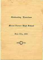 Thumbnail image of Mount Vernon High School 1907 Commencement cover