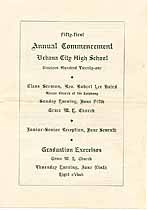 Thumbnail image of Urbana High School 1921 Commencement cover