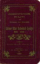 Thumbnail image of Silver Star Rebekah Lodge No. 399 Member List cover