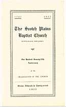 Thumbnail image of Scotch Plains Baptist Church 1922 Anniversary cover