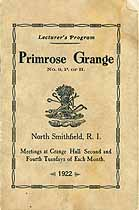 Thumbnail image of Primrose Grange, No. 9, 1922 Program cover