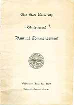 Thumbnail image of Ohio State University 1909 Commencement cover