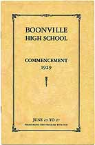 Thumbnail image of Boonville High School 1929 Commencement cover