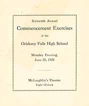Thumbnail image of Oriskany Falls High School 1928 Commencement cover