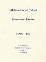 Thumbnail image of Madison Central 1932 Commencement cover