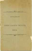 Thumbnail image of Coburn Classical Institute 1893-94 Catalogue cover