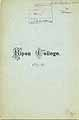Thumbnail image of Ripon College 1875-76 Catalogue cover