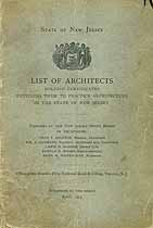 Thumbnail image of New Jersey Architects 1915 List cover