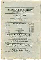 Thumbnail image of Worcester Telephone 1927 Directory cover