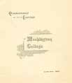 Thumbnail image of Washington College 1892 Commencement cover