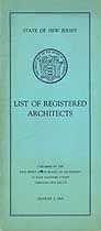 Thumbnail image of New Jersey Architects 1929 List cover