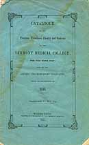 Thumbnail image of Vermont Medical College 1847 Catalogue cover