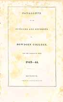 Thumbnail image of Bowdoin College 1843-44 Catalogue cover