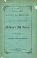 Thumbnail image of New York Children's Aid Society 1867 Report cover