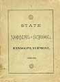 Thumbnail image of Vermont State Normal Schools 1894-95 cover
