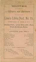 Thumbnail image of Edwin Libby G. A. R. Post No. 16 Roster cover