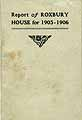 Thumbnail image of Report of Roxbury House for 1905-1906 cover